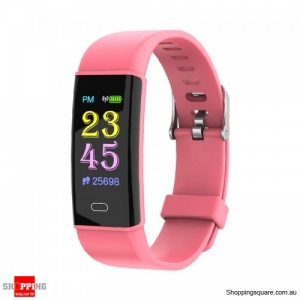 TFT Color Screen Waterproof IP67 Smart Watch Fitness Bracelet - Red