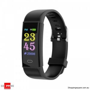 TFT Color Screen Waterproof IP67 Smart Watch Fitness Bracelet - Black