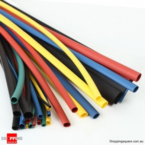 11 Size 6Color Polyolefin 2:1 Halogen-Free Sleeving Heat Shrink Tubing Kit 55M/Set
