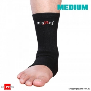 1 Pc Elastic Ankle Support Foot Wrap Sleeve Bandage Brace Protection Sports Relief - Medium