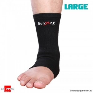 1 Pc Elastic Ankle Support Foot Wrap Sleeve Bandage Brace Protection Sports Relief - Large