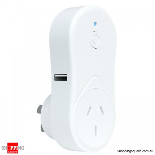 Brilliant Lighting Smart WiFi Plug with USB White