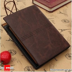 Wallet PU Leather Purses Soft Card Case Card Holder - Dark Coffee