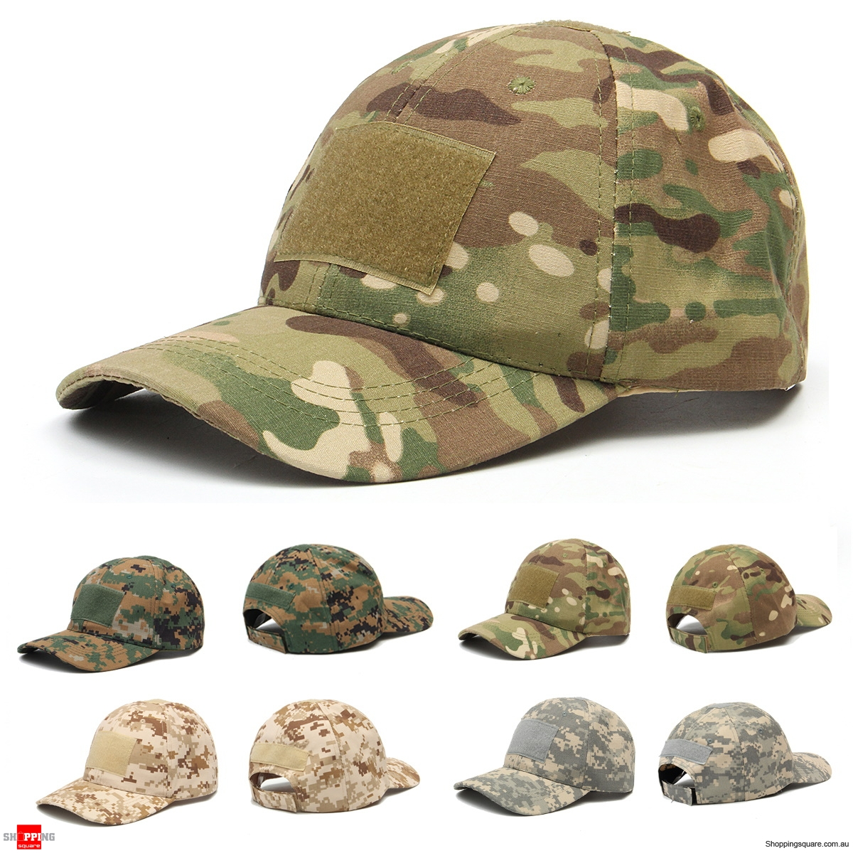 Adjustable Camping Tactical Camouflage Travel Sunscreen Baseball Cap - CP