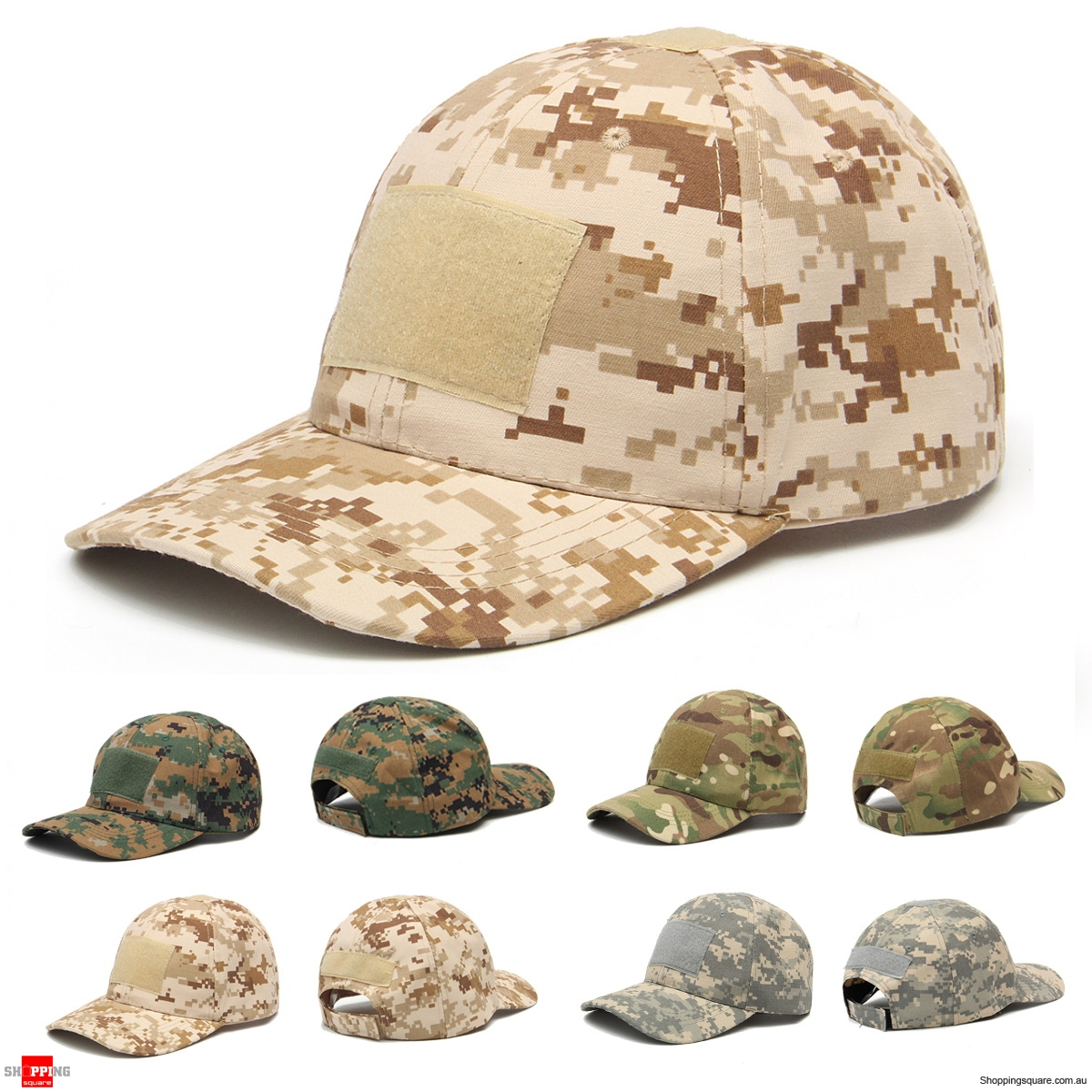 Adjustable Camping Tactical Camouflage Travel Sunscreen Baseball Cap - Desert Camo Jungle