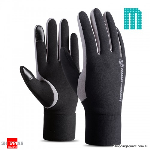 Waterproof Elastic Touchscreen Mittens Winter Warm Fleece Motorcycle Gloves Sport - M