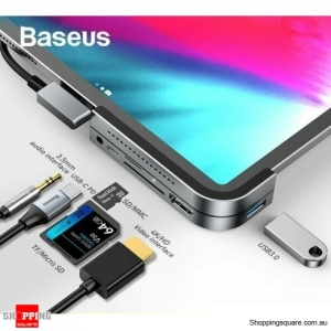 Baseus USB C HUB to HDMI USB 3.0 TF/SD 3.5mm AUX PD for iPad Pro MacBook Surface