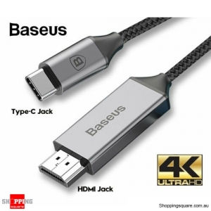 Baseus USB C to HDMI Cable USB Type C to HDMI 4K Cord For Samsung S10 S9 Macbook