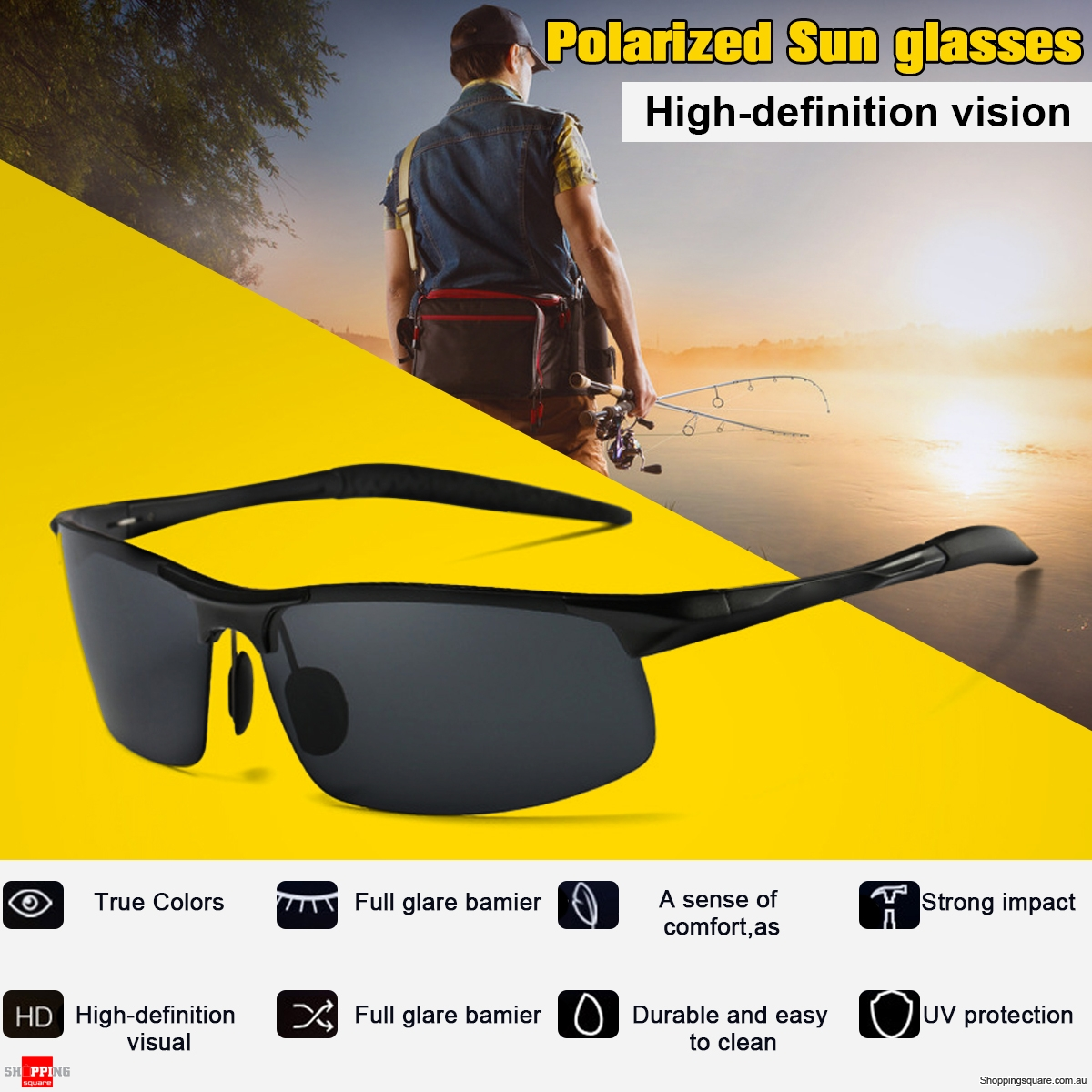 Aluminum Polarized Sunglasses Men Women Sports Cycling Driving Biking Eyewares Glasses