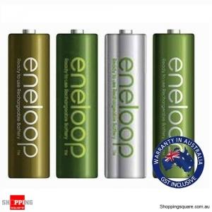 4x Panasonic Eneloop AA Rechargeable LSD NiMH Batteries