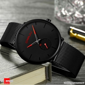 Simple Dial Bright Needle Men Fashion Quartz Watch - Red