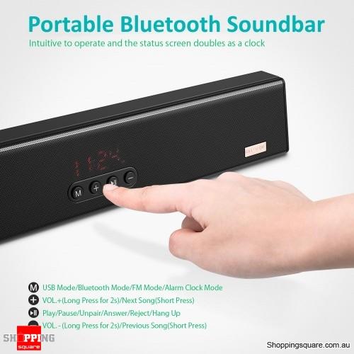 10W Mini Portable Bluetooth Soundbar Voice Module Audio Speaker Player