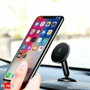 Baseus 360 Rotate Magnetic Car Mount Phone Holder for iPhone Galaxy Huawei GPS - Black