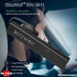 Single Wireless Bluetooth Earphone HiFi Mini Light Smart Touch Noise Cancelling Headphone