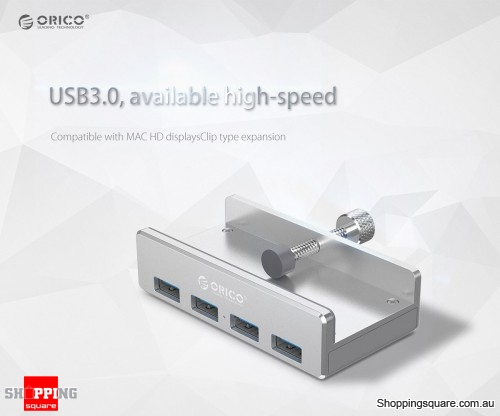 ORICO MH4PU USB3.0 4 Ports Monitor Table Clip-type HUB Spitter For PC iMac