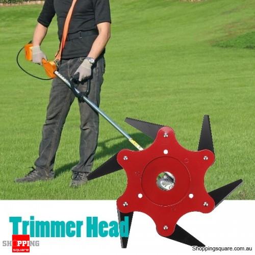 Trimmer Head 65Mn 6 Teeth Blade Trimmer Head Brush Cutter Blade for Lawnmower