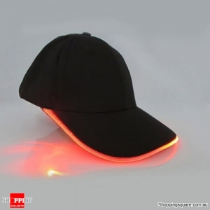 Punk Style LED Light Baseball Cap Luminous Cap Snapback Hat Fiber Optic Hat - Orange
