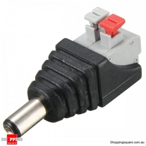 DC Power Male Female Connector Adapter Plug Cable Pressed - Male Connector