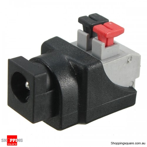 DC Power Male Female Connector Adapter Plug Cable Pressed - Female Connector