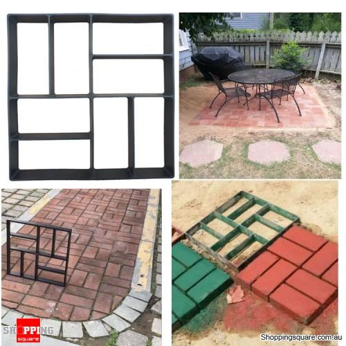Garden DIY Plastic Path Maker Cement Brick Mold Manually Paving Courtyard - No.3