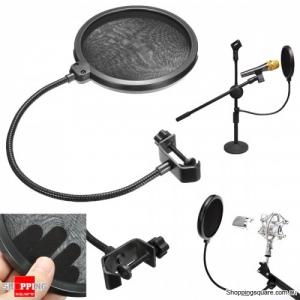 Professional Mic Windscreen Flexible Record Studio Microphone Pop Filter Shield
