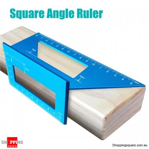 Aluminum Alloy Woodworking Scriber T Ruler 45/90 Degree Angle  Protractor Gauge