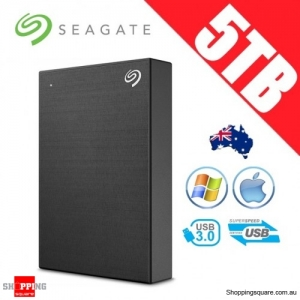 Seagate Backup Plus 5TB 2.5in Portable Hard Disk Drive Black