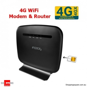 FOXXD L270 4G LTE CAT4 N300 Wi-Fi Modem & Wireless Router Black