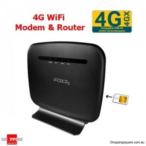 FOXXD L270 4G LTE CAT4 N300 Wi-Fi Modem & Wireless Router Black