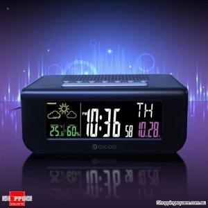 SmartSet Wireless Digital Alarm Clock Weather Forecast Sleep with FM Radio Clock