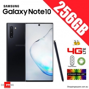 Samsung Galaxy Note 10 256GB N9700 Dual Sim 4G LTE Unlocked Smart Phone Aura Black