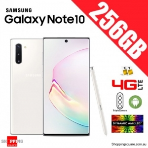 Samsung Galaxy Note 10 256GB N9700 Dual Sim 4G LTE Unlocked Smart Phone Aura White