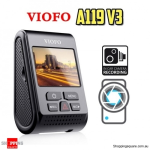 VIOFO A119 V3 QUAD HD 30FPS Car Dash Camera Buffered Parking Mode w/GPS Module