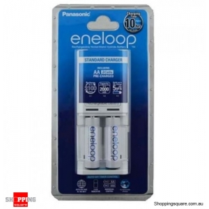 Panasonic ENELOOP K-KJ50MCC2TA 2pcs AA Batteries Kit with Standard Charger