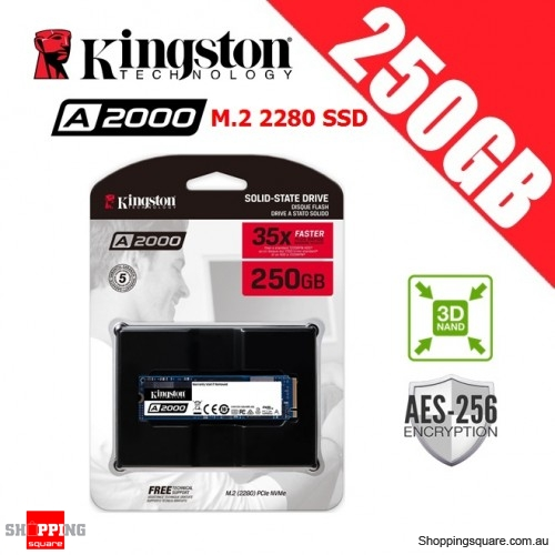 Kingston A2000 250GB M.2 2280 3D NAND SSD Solid State Drive