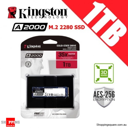 Kingston A2000 1TB M.2 2280 3D NAND SSD Solid State Drive