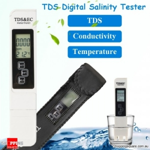 TDS Digital Salinity Water Tester Pool Fish Pond Test MeasurementTemp Tester Meter