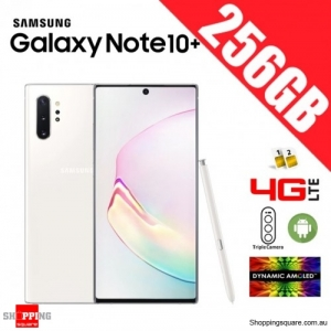 Samsung Galaxy Note 10+ 256GB N9750 Dual Sim 4G LTE Unlocked Smart Phone Aura White