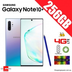 Samsung Galaxy Note 10+ 256GB N9750 Dual Sim 4G LTE Unlocked Smart Phone Aura Glow