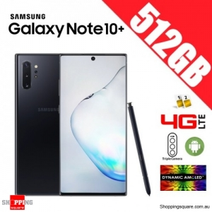 Samsung Galaxy Note 10+ 512GB N975FD Dual Sim 4G LTE Unlocked Smart Phone Aura Black