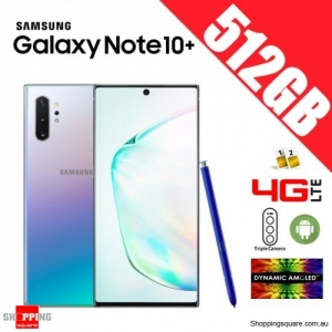 Samsung Galaxy Note 10+ 512GB N975FD Dual Sim 4G LTE Unlocked Smart Phone Aura Glow