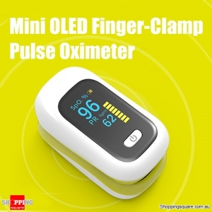 Mini OLED Finger-Clamp Pulse Oximeter Heathy Blood Oxygen Saturation Monitor - Yellow