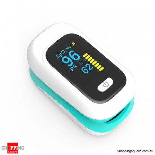 Mini OLED Finger-Clamp Pulse Oximeter Heathy Blood Oxygen Saturation Monitor - Green