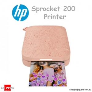 HP Sprocket 200 Bluetooth Photo Smart Phone Printer Blush Pink