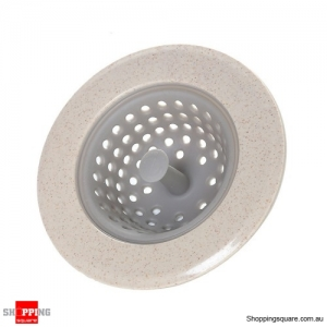 Silicone Drain Sink Stopper Hair Catcher Kitchen Bathtub Floor Drain Protector  - Light Grey