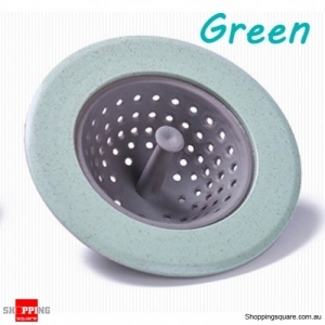 Silicone Drain Sink Stopper Hair Catcher Kitchen Bathtub Floor Drain Protector  - Light Green