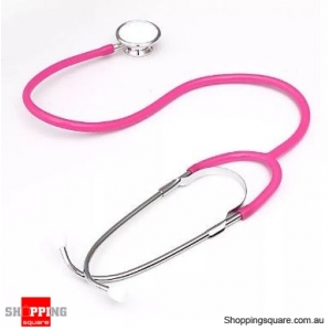 Dual Head EMT Heart Rate Medical Stethoscope - Pink