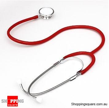 Dual Head EMT Heart Rate Medical Stethoscope - Red