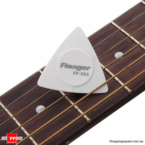 Anti-slip ABS Material Triangle Guitar Picks 3 Thicknesses - White