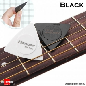 Anti-slip ABS Material Triangle Guitar Picks 3 Thicknesses - Black